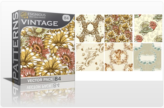 seamless vintage vector pack designious 84 10 Fabulous New Vintage Seamless Pattern Vector Packs & Freebie from Designious.com!