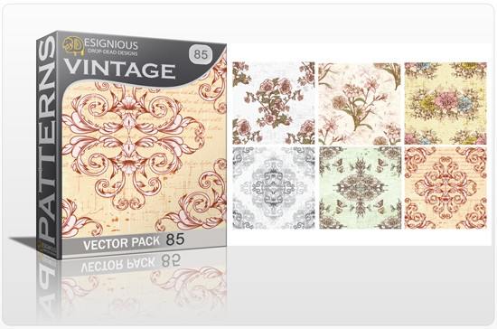 seamless vintage vector pack designious 85 10 Fabulous New Vintage Seamless Pattern Vector Packs & Freebie from Designious.com!