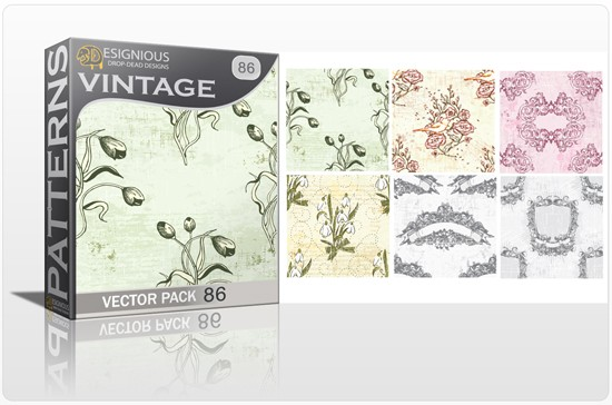 seamless vintage vector pack designious 86 10 Fabulous New Vintage Seamless Pattern Vector Packs & Freebie from Designious.com!