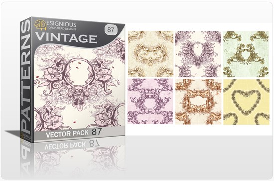 seamless vintage vector pack designious 87 10 Fabulous New Vintage Seamless Pattern Vector Packs & Freebie from Designious.com!