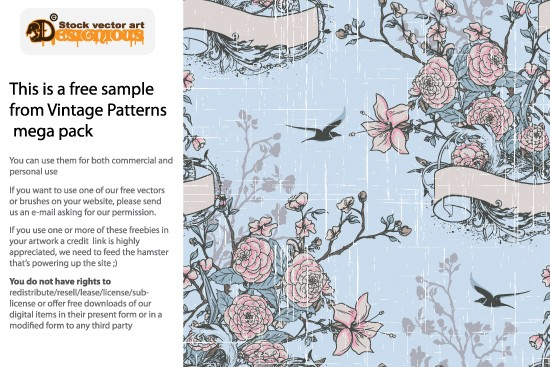 vintage patterns 7 sample 10 Fabulous New Vintage Seamless Pattern Vector Packs & Freebie from Designious.com!