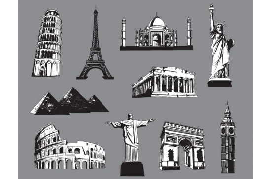 Famous monuments 10 Vector Monuments You'll Need in Your Design Projects & Their Story – Part 2