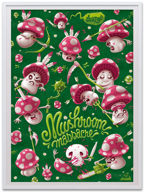 denada posters mushroom massacre view1 Interview with Talented Graphic Artist Andreas Krapf
