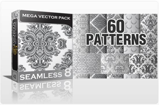 seamless bundle 8 preview 1 10 New Beautiful Seamless Pattern Vector Packs from Designious.com!