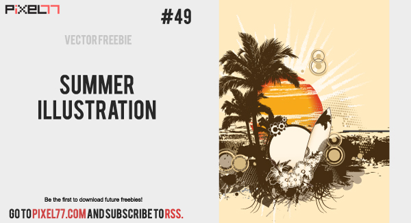 summer illustration 600 Free Vector of the Day #49: Summer Illustration