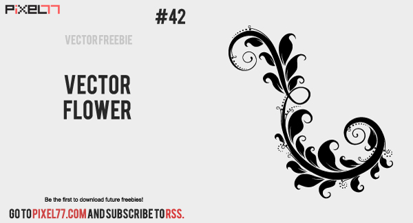 vector flower 600 Daily Freebie #42: Vector Flower