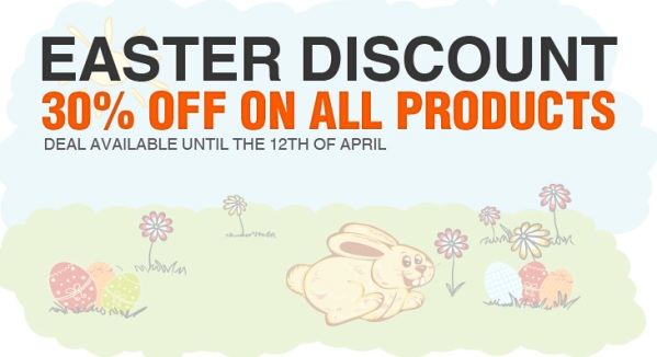 011 30% Easter Discount on all Products from Designious.com