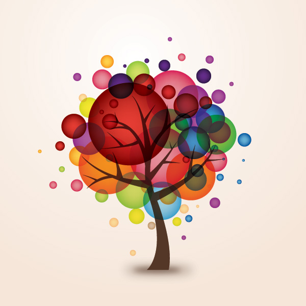 Vector tree 8 Top 10 Most Vivacious Vector Tree Illustrations from 2011