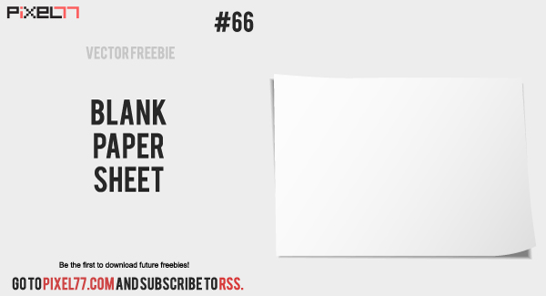 blank paper sheet 600 Free Vector of the Day #66: Blank Paper Sheet