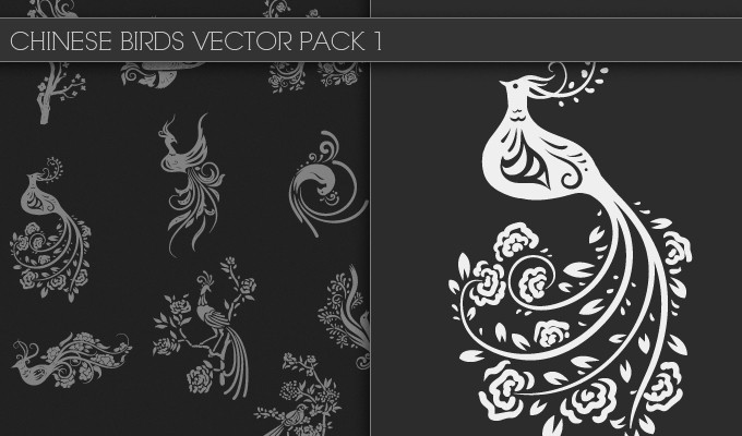 designious chinese birds vector pack 1 small New Awesome T shirt Designs, Vector Packs & Freebie from Designious.com!