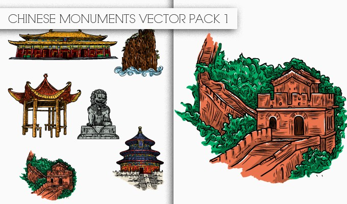 designious chinese monuments vector pack 1 small New Awesome T shirt Designs, Vector Packs & Freebie from Designious.com!