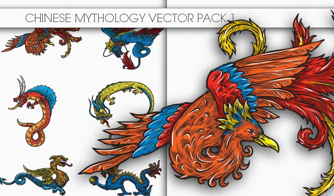 designious chinese mythology vector pack 1 small New Awesome T shirt Designs, Vector Packs & Freebie from Designious.com!