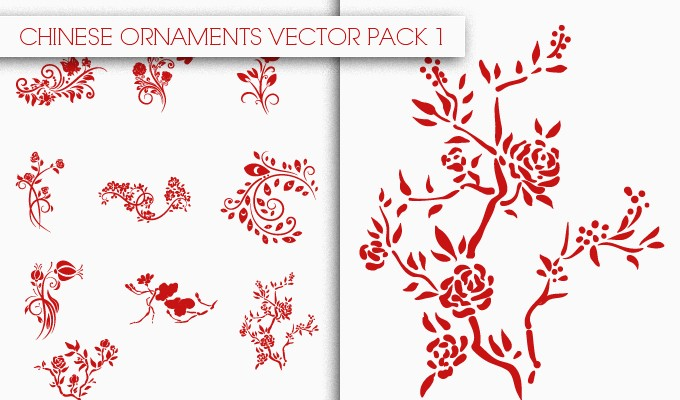 designious chinese ornaments vector pack 1 small New Awesome T shirt Designs, Vector Packs & Freebie from Designious.com!