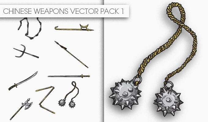 designious chinese weapons vector pack 1 small New Awesome T shirt Designs, Vector Packs & Freebie from Designious.com!
