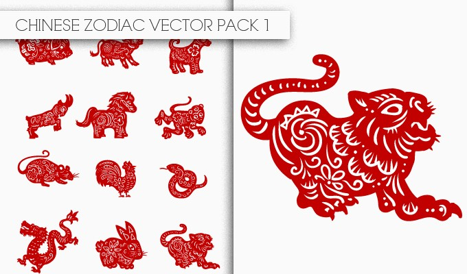 designious chinese zodiac vector pack 1 small New Awesome T shirt Designs, Vector Packs & Freebie from Designious.com!