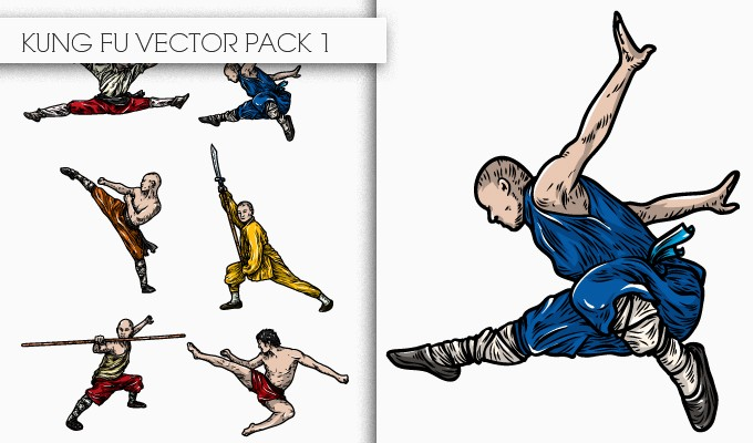 designious kung fu vector pack 1 small New Awesome T shirt Designs, Vector Packs & Freebie from Designious.com!