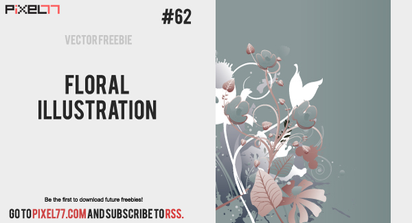 floral illustration 600 Free Vector of the Day #62: Floral Illustration
