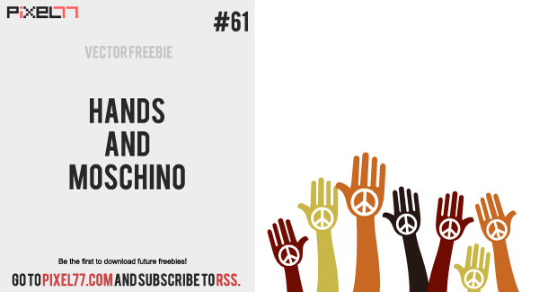 hands and moschino 600 Free Vector of the Day #61: Hands and Moschino