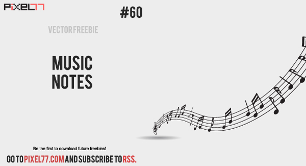 music notes 6001 Free Vector of the Day #60: Music Notes