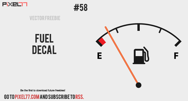 vector fuel decal 300 Free Vector of the Day #58: Fuel Decal