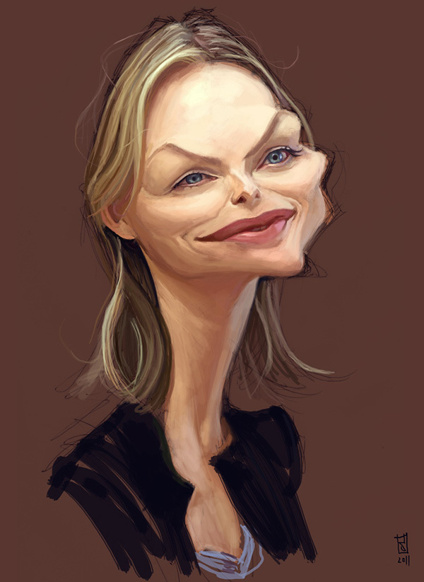 Celebrity vector caricature 19 Showcase of 25 Cunning Celebrity Digital Caricatures