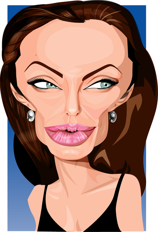 Celebrity vector caricature 22 Showcase of 25 Cunning Celebrity Digital Caricatures