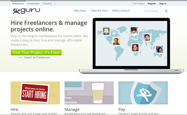 guru Talent Markets   Your Freelance Design Career Firestarters