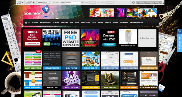 Websites free psd templates 1 20 Websites for Downloading Free Premium PSD Templates