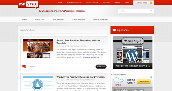 Websites free psd templates 10 20 Websites for Downloading Free Premium PSD Templates