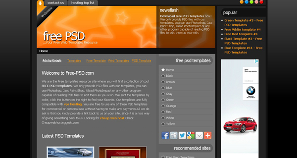 Websites free psd templates 15 20 Websites for Downloading Free Premium PSD Templates