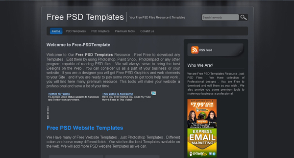 Websites free psd templates 2 20 Websites for Downloading Free Premium PSD Templates