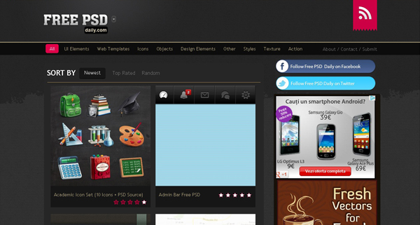 Websites free psd templates 3 20 Websites for Downloading Free Premium PSD Templates