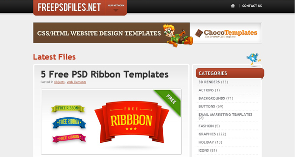 Websites free psd templates 5 20 Websites for Downloading Free Premium PSD Templates