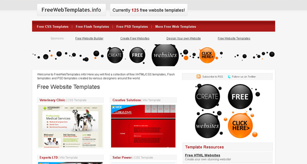 Websites free psd templates 6 20 Websites for Downloading Free Premium PSD Templates