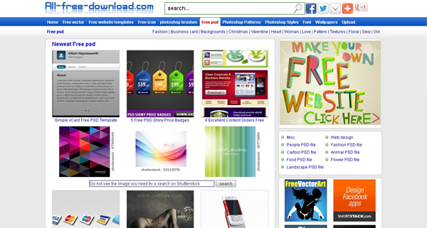 Websites free psd templates 7 20 Websites for Downloading Free Premium PSD Templates