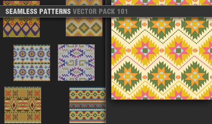 designious vector seamless patterns 101 small 7 Remarkable Vector Packs & 1 Aztec Mega Pack from Designious.com!