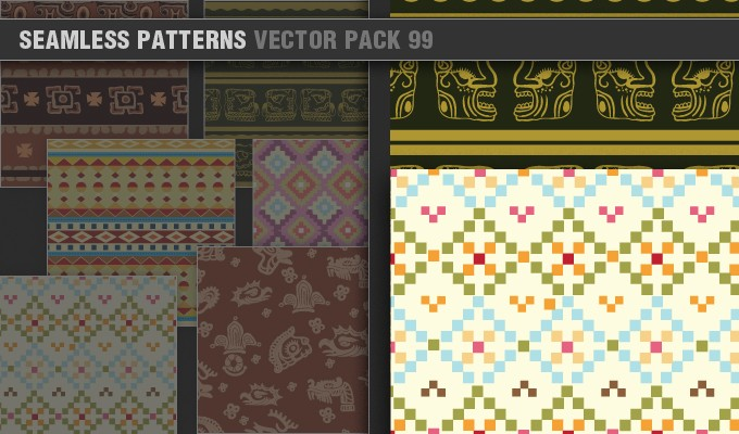 designious vector seamless patterns 99 small 7 Remarkable Vector Packs & 1 Aztec Mega Pack from Designious.com!
