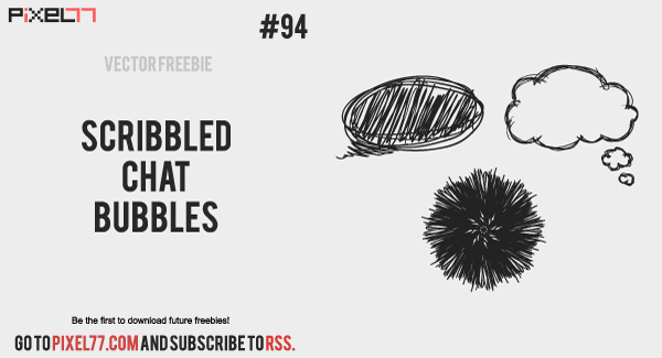 pixel77 free vector scribbled chat bubbles 600 Free Vector of the Day #94: Scribbled Chat Bubbles