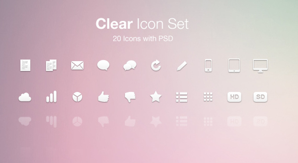 Free clean icon sets 11 20 Free Clean Icon Sets for Your Web Designs