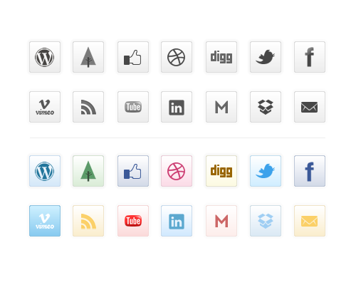 Free clean icon sets 17 20 Free Clean Icon Sets for Your Web Designs