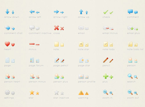 Free clean icon sets 2 20 Free Clean Icon Sets for Your Web Designs