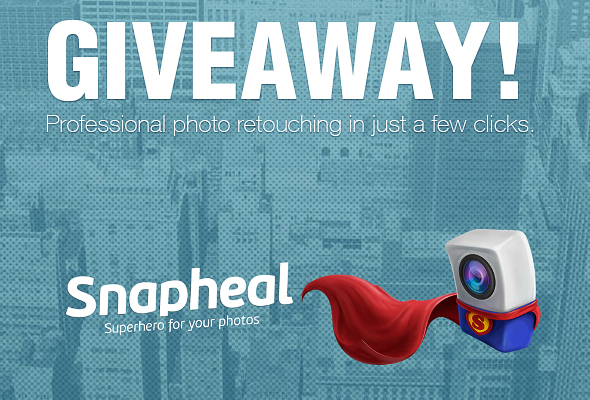 giveaway snapheal 590 Giveaway! Win the Snapheal App   a fantastic photo editor that does magic