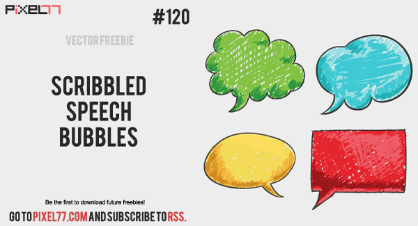 pixel77 free vector scribbled speech bubbles 600 Free Vector of the Day #120: Scribbled Speech Bubbles