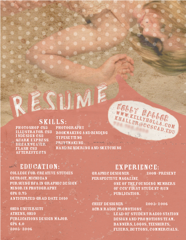 which graphic design intern resume
