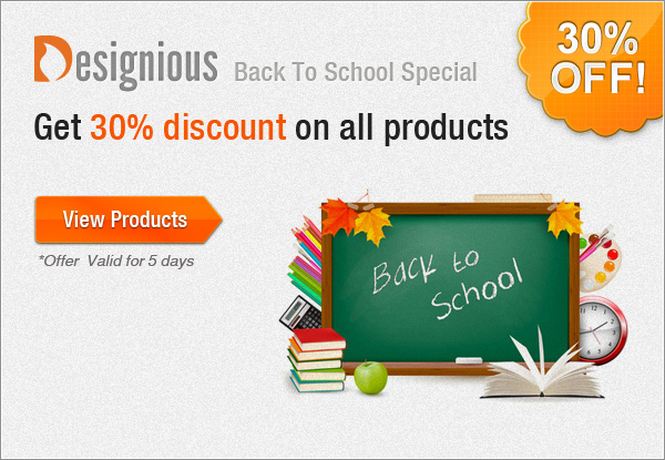 back to school pixel 30% Back to School Discount & New Products from Designious!