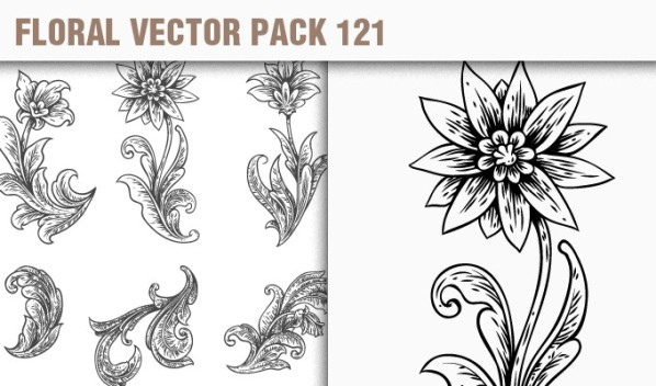designious vector floral 121 small New Products from Designious.com: 20 Awesome Vector Packs, 10 Urban T shirt Designs & 2 New Freebies