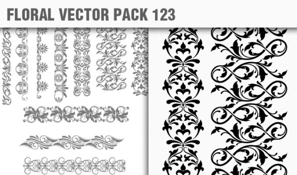 designious vector floral 123 small New Products from Designious.com: 20 Awesome Vector Packs, 10 Urban T shirt Designs & 2 New Freebies