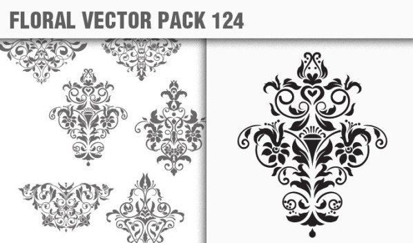 designious vector floral 124 small New Products from Designious.com: 20 Awesome Vector Packs, 10 Urban T shirt Designs & 2 New Freebies
