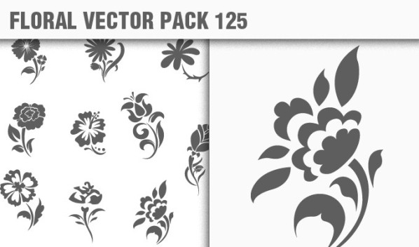 designious vector floral 125 small New Products from Designious.com: 20 Awesome Vector Packs, 10 Urban T shirt Designs & 2 New Freebies
