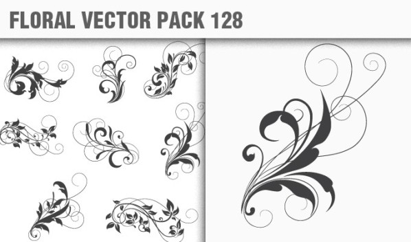 designious vector floral 128 small New Products from Designious.com: 20 Awesome Vector Packs, 10 Urban T shirt Designs & 2 New Freebies